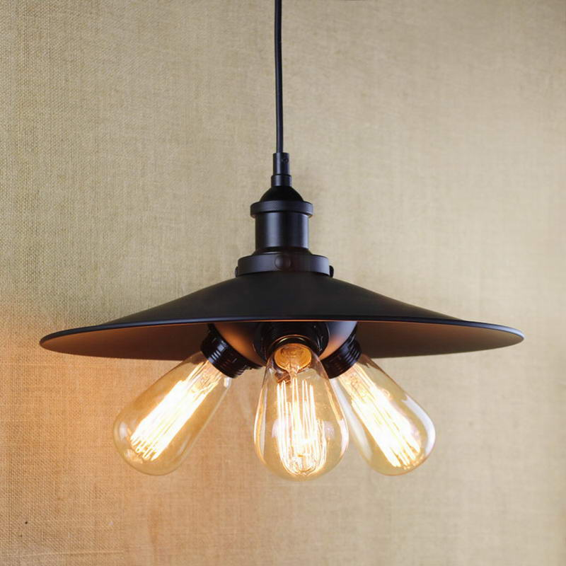 antique black pendant lamp For Kitchen Lights Cabinet Living/dining room/Edison Simple metal shade cover Pendant Light Fixture(China (Mainland))