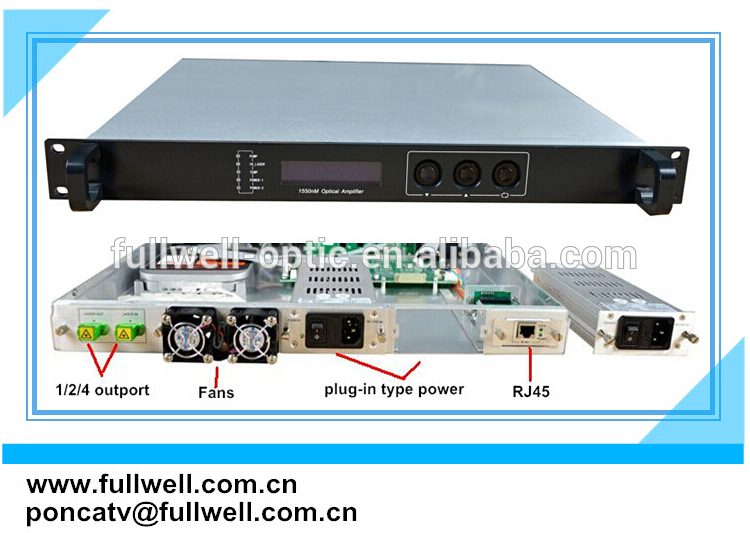 Fullwell fiber optic, 25dBm, 1550nm catv edfa / amplifier edfa at good price(China (Mainland))
