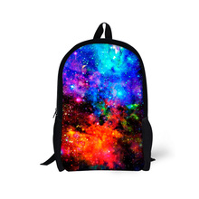Fashion Children School Bags Universe Space Star Printed Schoolbags for Teenager Girls Kids Female Ladies Tourism Bags Mochila(China (Mainland))