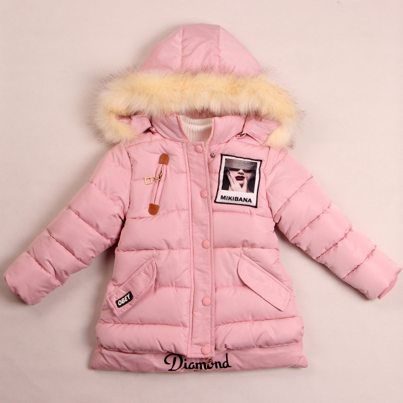 Real Photo! Hot 2016 new Female winter outerwear child wadded jacket baby cotton-padded jacket winter thickening Free shipping(China (Mainland))