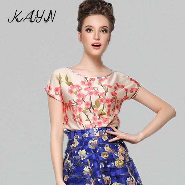 Europe station 2015 New Fashion Summer Tops Women Brand Luxury Sleeveless Printed T-Shirt Tshirt Camiseta - KAYN Boutique Clothing store