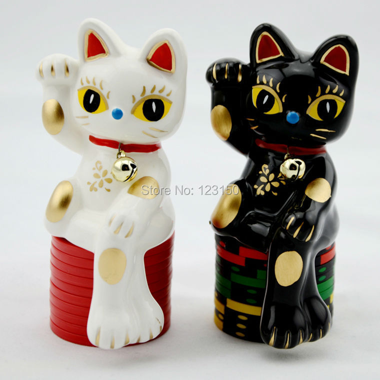 ES-22   Chinese Special Card Protector, Lucky Cat Pair<br><br>Aliexpress