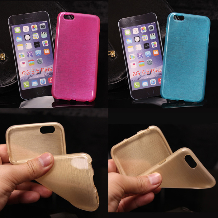 New Soft matte Bling TPU Case for iphone 6 plus Case with spark silicone back cover case for iphone 6 plus 5.5 inch phone pouch(China (Mainland))