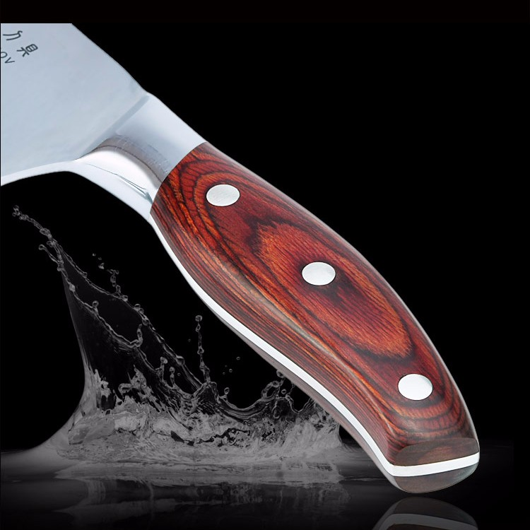 Buy Kitchen knife chef knife 7 inch damascus veins 7CR17 stainless steel color wood handle high quality blade cooking tools hot sell cheap