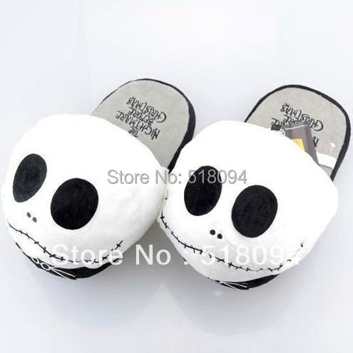 """Гаджет  Free Shipping The Nightmare Before Chritmas Jack Plush Slipper/Shoes Cartoon Winter Slippers Indoor Shoes 10.5""""/27cm ANPS016 None Обувь"""