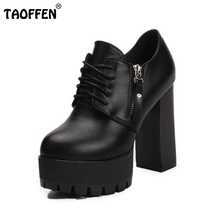 Buy Lady Club Thick High Heel Shoes Women Zipper Platform High Heels Pumps Round Toe Office Party Office Sexy Footwears Size 35-39 for $22.98 in AliExpress store