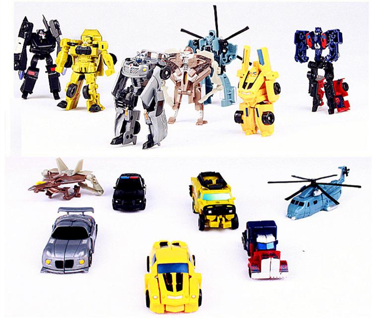 Hot 1 pcs Optimus Prime Figure Bumblebee Robot Car Transformation Robots Classic Action Figures High Quality Best Children Toys(China (Mainland))