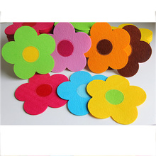 20PCS/LOT.Flower felt sheets,Fabric sheets,Non-woven coaster,Cup mat,Table mat,Daily supplies.7 color,18x18x0.3cm(China (Mainland))