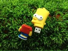 16GB Cute Cartoon bart simpson model usb 2.0 memory flash card pen drives memory Stick