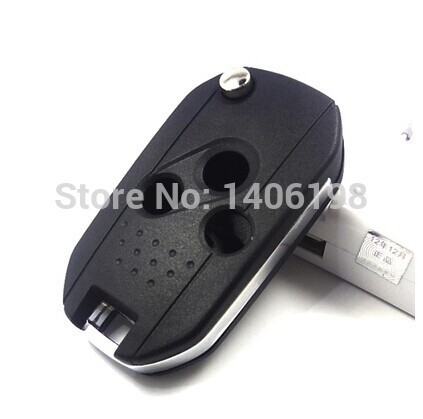 3pcs/lot for Subaru Forester modified flip folding remote key shell 3button with best price 0701401(China (Mainland))