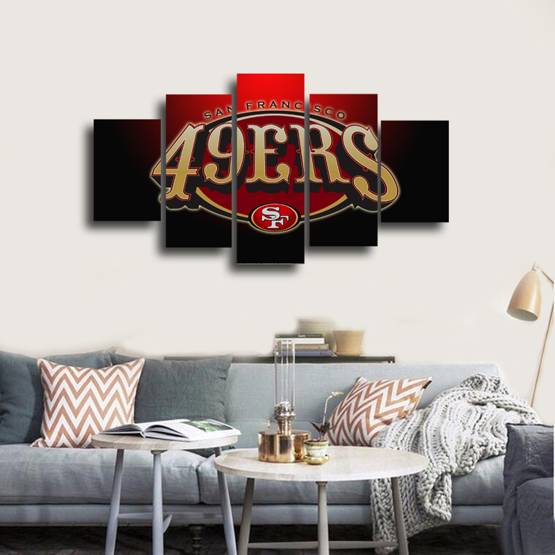 Online get cheap free 49ers logos for 49ers wall mural