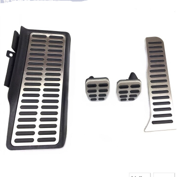 Stainless Steel foot rest pedal,auto brake pedal, accelerator pedal,AT and MT for Volkswagen passat B6,B7,cc/Skoda superb(China (Mainland))