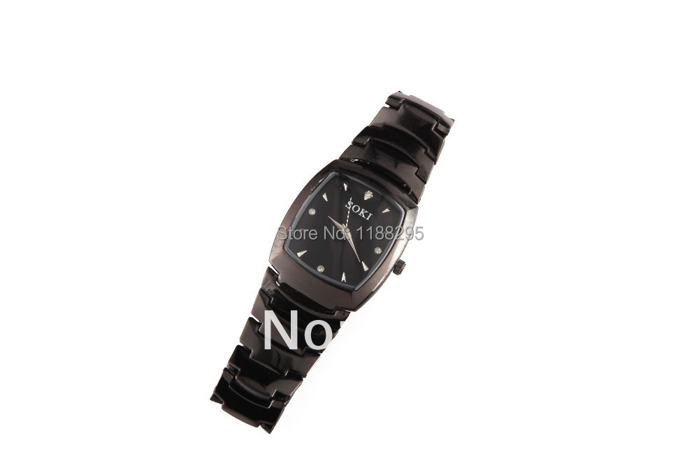 Men's fashion watches, stainless steel tungsten steel type SOKI dial made careful, quality excellent(China (Mainland))