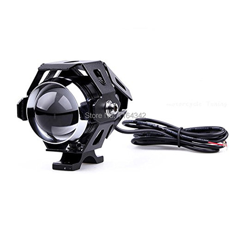 Black 125W Motorcycle CREE U5 LED Driving Fog Spot Light Lamp Headlight For Harley Custom Free shipping(China (Mainland))