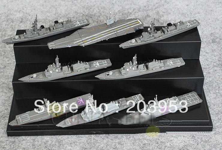 8pcs U.S. pacific naval military battleship carrier fleet model naval destroyer assembled models ornaments scenario model(China (Mainland))