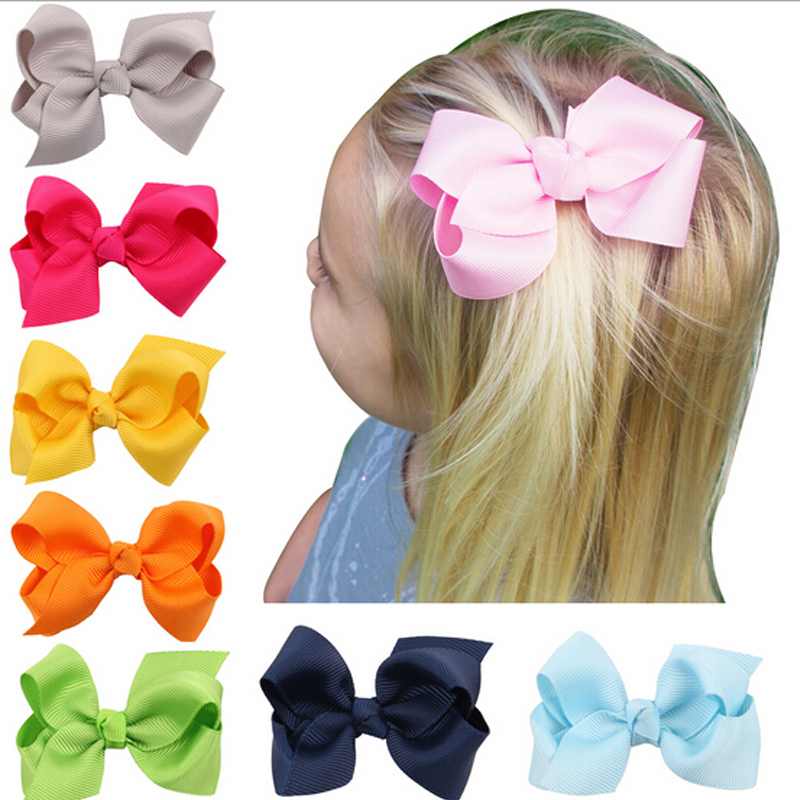 skin baby hair clips & # of 39; arc beautiful children bowknot hair accessories retail extail w115 1 piece(China (Mainland))