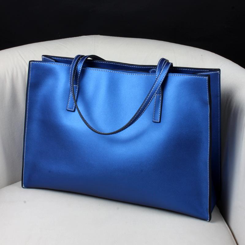 2016 New Fashion Brand Handbag for Women  Quality Solid Handbags Genuine Cow Split Leather Bags Women Shoulder Tote Bag SMB207<br><br>Aliexpress