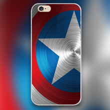 Captain America For marvel Design transparent case cover cell mobile phone cases for iphone 4 4s 5 5c 5s 6 6s 6plus hard shell