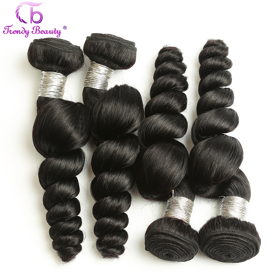 Trendy Beauty Hair Brazilian Loose wave hair 3 pcs per lot 100 g per pcs human hair bundles free shipping remy hair