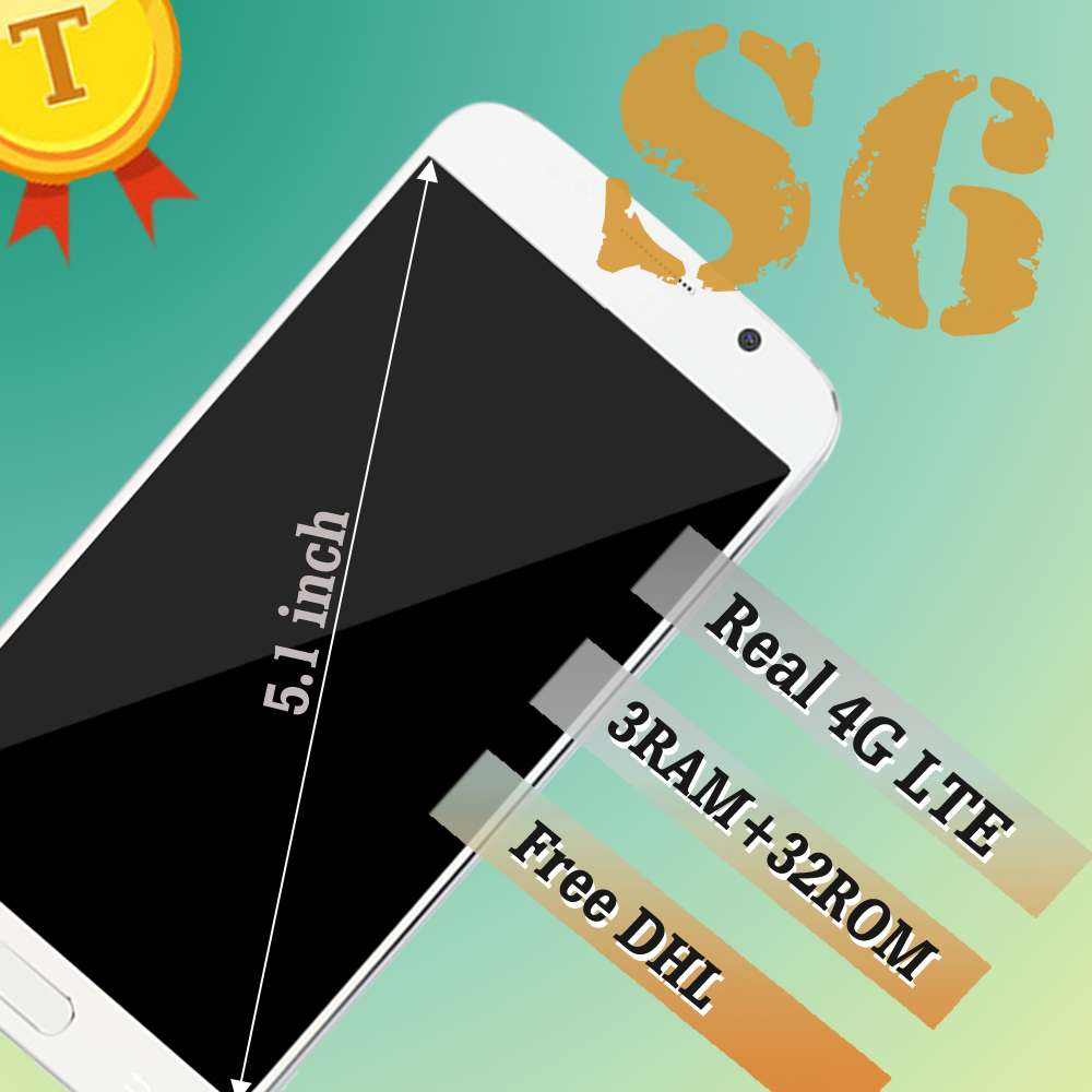 Real 4G LTE HDC S6 phone Free shipping MTK6592 Octa core s6 mobile phone Android Lollipop 3G Ram 32GRom G920F MTK6735 cell phone(China (Mainland))