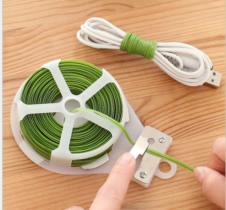 kitchen accessories fone de ouvido food bag food sealer mini kitchen organizer plastic bag sealing clips 30 meters cable tie(China (Mainland))