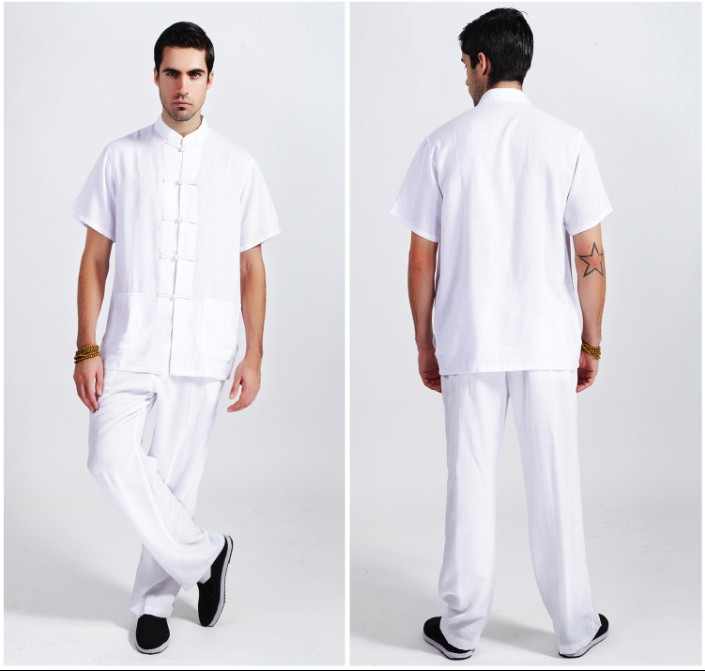 Mens Linen Pants And Shirt Set