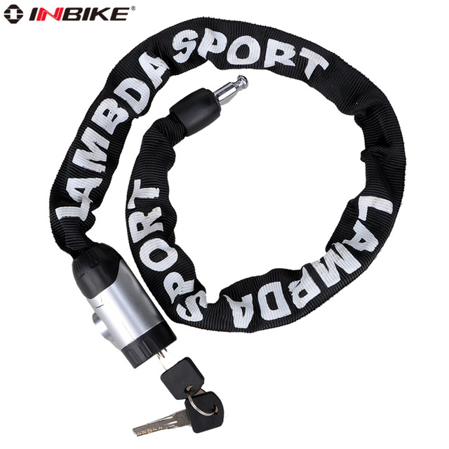 Inbike 80cm bicycle lock chain lock mountain bike electric bicycle motorcycle lock bicycle anti-theft