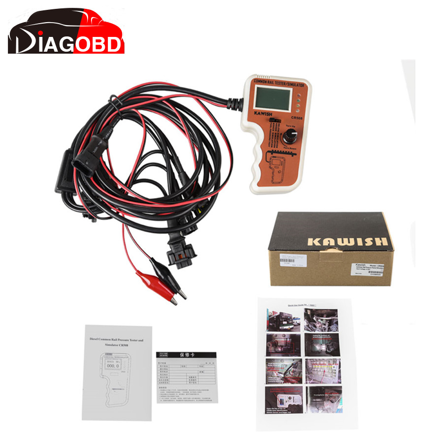 New CR508 Common Rail Pressure Tester and Simulator by Rail Pressure Tester for Denso/BOSCH/Delphi CR508 Diesel Engine(Hong Kong)