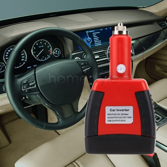 1Set Power Supply 150W 12V DC to 110V or 220V AC USB Car Charger Car Power Inverter Adapter US51(China (Mainland))