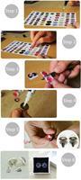 Серьги-гвоздики I Handmade ,  J0246