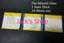 100pcs 1.5mm Thick Flat Watch Mineral Glass Watch Crystal for Watchmakers Selected Size from 24 to 40mm(China (Mainland))