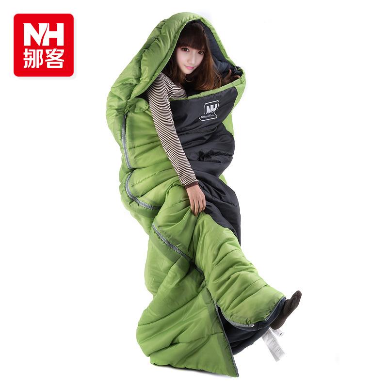 Hiking Outdoor Sleeping Bags Winter Sleeping Bag High Quality Cotton Camping Sleeping Bag 3 Colors 2 Size -Naturehike