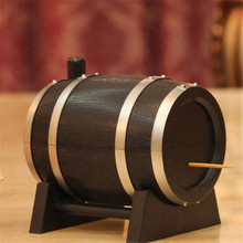 Wine Barrel Plastic Automatic Toothpick Holder Box Toothpick Storage Container Toothpick Dispenser Kitchen Accessories