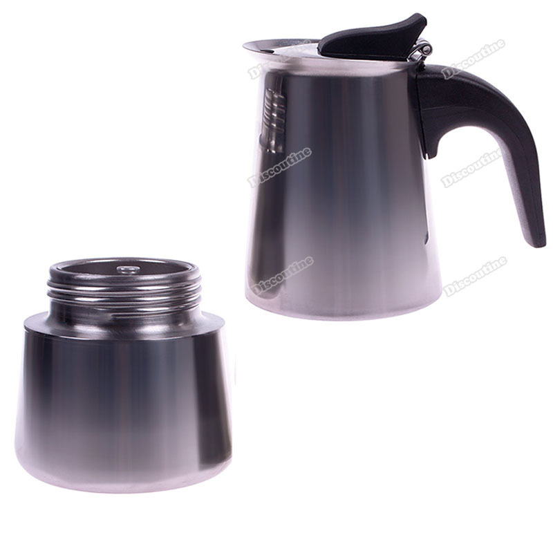 Metal Coffee Maker For Stove : discoutine Currently! 2 Cup Stainless Steel Moka Espresso Latte Percolator Stove Top Coffee ...