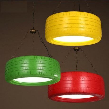 Retro Loft Style Color Wheel Droplight LED Pendant Light Fixtures Vintage Industrial Lighting For Dining Room Hanging Lamp<br><br>Aliexpress