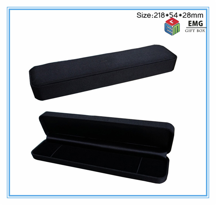 Free Shipping Black Plastic And Terylene Gift Watch Box Jewellery