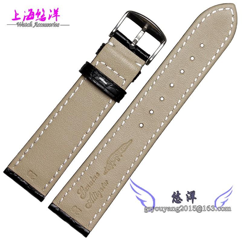 18 мм 19 мм 20 мм 21 мм 22 мм черный кожи аллигатора ремешок для часов доступен для мужчин и женщин часы