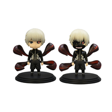 2Pcs Set New Tokyo Ghoul Kaneki Ken Action Figure Cartoon Doll PVC 10cm Box Packed Japanese