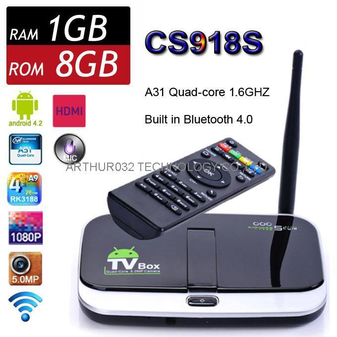 CS918S Q7S Android 4.4 Smart TV BOX 2.0MP Camera Mic Allwinner A31 Quad Core 1G 8G XBMC BT HDMI Dongle Media Player Update CS918<br><br>Aliexpress