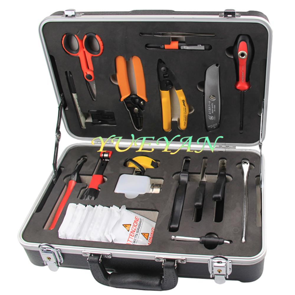 Hot Fiber Optic Tool Kit Fiber Fusion Splicing Tool Kit YW-6100(China (Mainland))