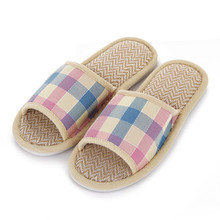 Breathable Plaid Men Women Shoes Fashion Design font b Tartan b font Lovers Sandals Summer Indoor