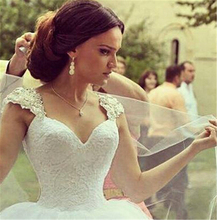 Buy 9030 2016 Beads Crystal Lace White Wedding Dresses brides train plus size maxi size 2 4 6 8 10 12 14 16 18 20 22 24 26 for $71.99 in AliExpress store