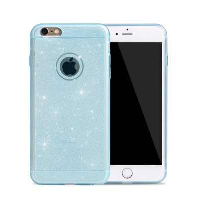 Case for iphone 5 / 5S by luxury glitter phone shell thin transparent soft cover following cases frosted i5 quality solid TPU(China (Mainland))