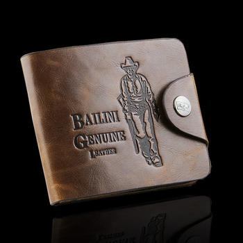 Portfel męski BAILINI skóra PU tłoczony wzór różne modele