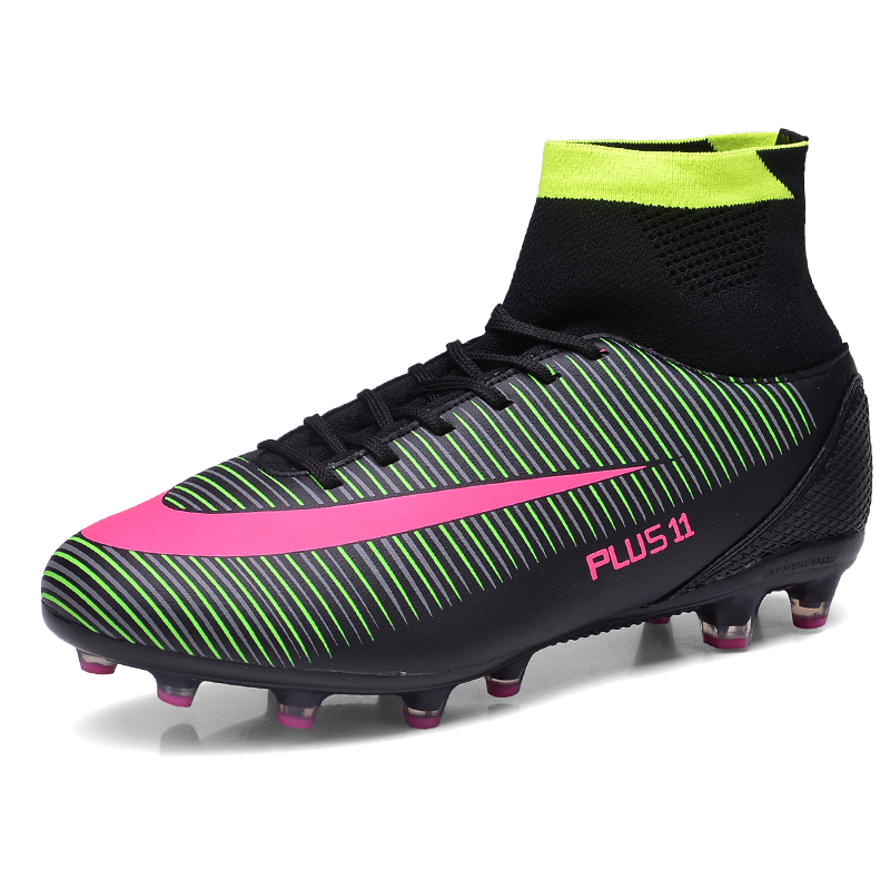 High Ankle Football Cleats Original Football Boots Big Size Men Soccer Shoes With Ankle Football Shoes Men Cleats Turf Shoes(China (Mainland))