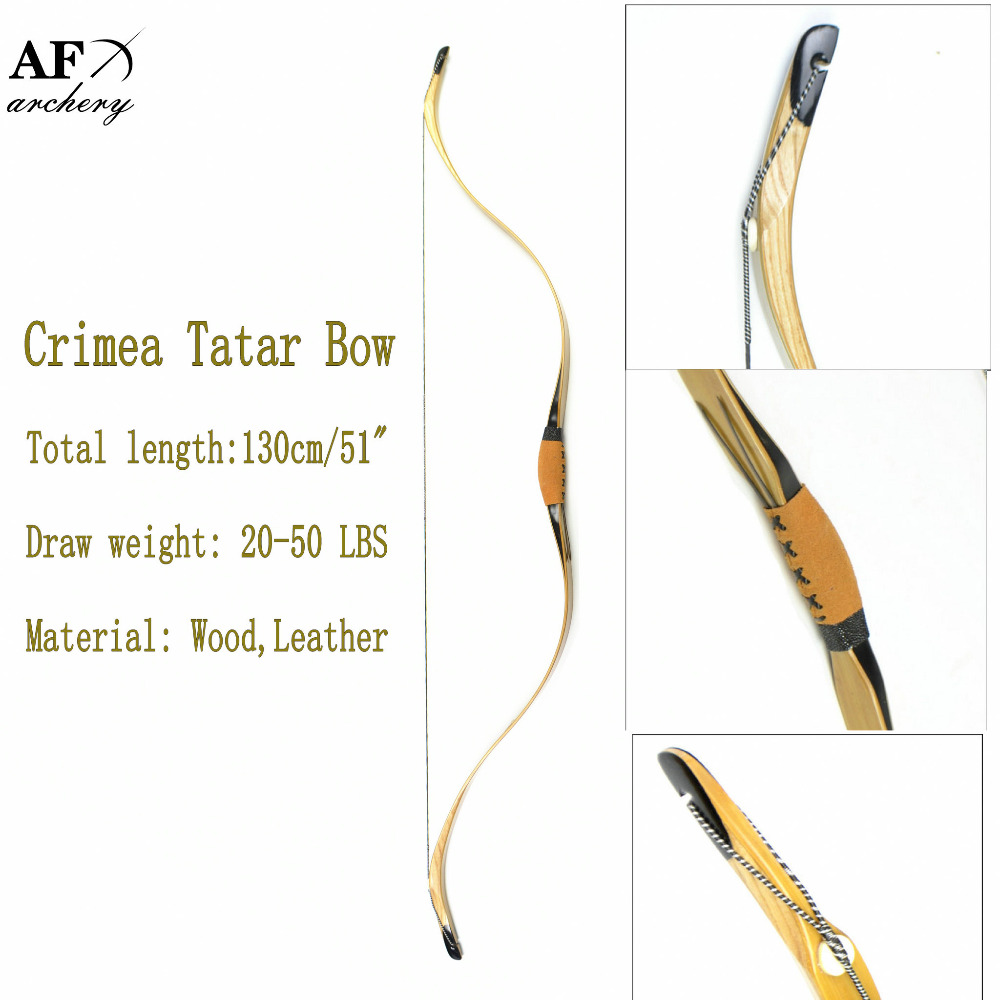 Traditional Archery Bow and Arrow Sport for Hunting Recurve Crimea Tatar Longbow Sales 130cm 51 Length