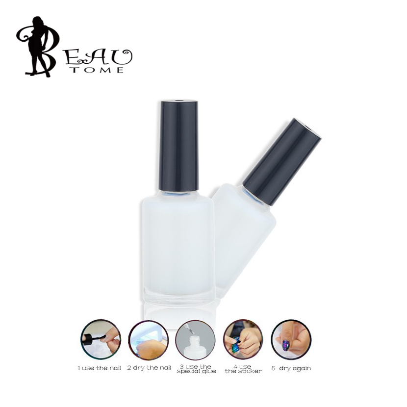 Beautome 1 Bottle/LOT Pro Nail Art Glue For Foil Sticker Nail Transfer Tips Adhesive 13ml Liquid Star Nails Polish Nail Art Pen(China (Mainland))