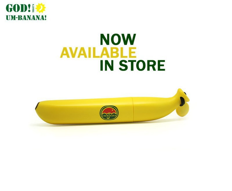 2016 New Banana Umbrella Um-banana Yellow Novelty Umbrella High Quality Brand Banana Shaped Clear Rain Umbrellas(China (Mainland))