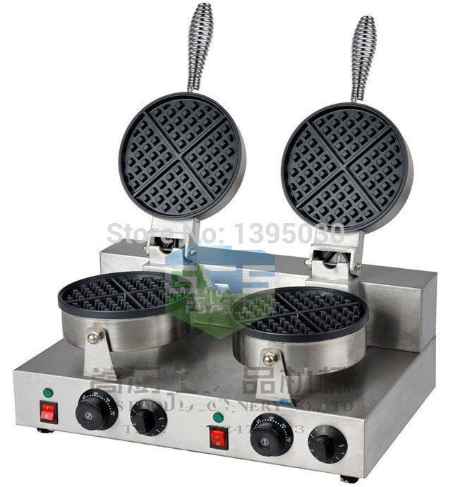 Free Shipping By DHL 1PC FY-2 Electric Double Head Waffle Maker Mould Plaid Cake Furnace Heating Machine Square Waffle Oven<br><br>Aliexpress
