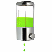 Hight Quality Hot Sale 500ml ABS Stainless steel Wall Mounted Bathroom Shower Body Lotion Shampoo Liquid Soap Dispenser Newest(China (Mainland))